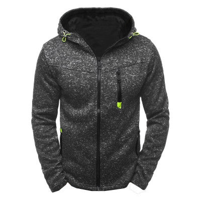 Men's Hooded Jacket Tracksuit Coat Male Sweatshirt