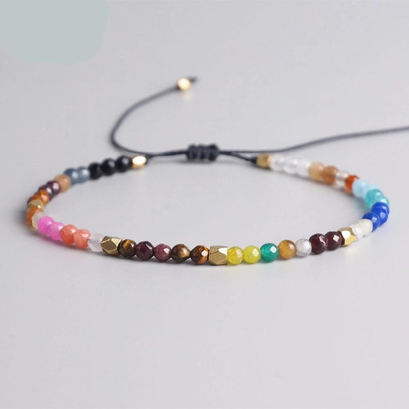 Adjustable Bracelet for Women/Men with Natural Crystal Stones Beads