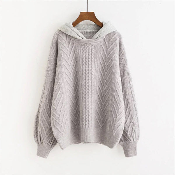 Long Sleeve Jumpers Pullovers Hooded Sweater for Women