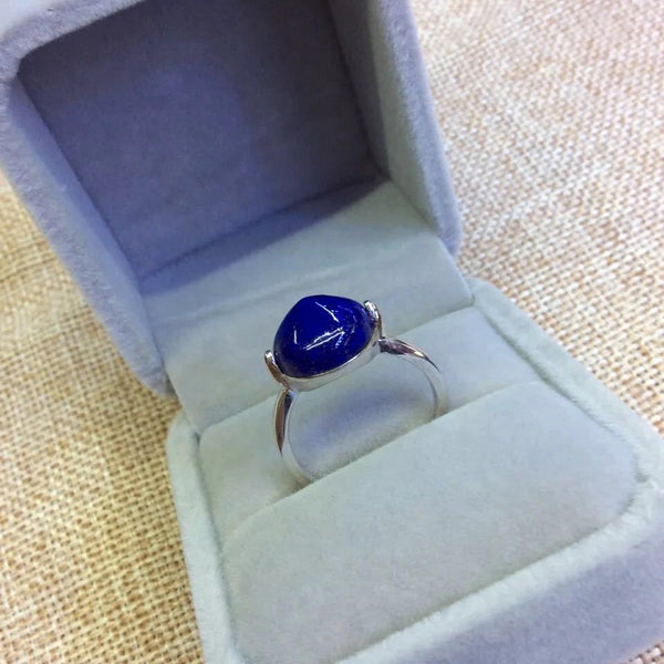 Badakhshan Afg Lapis Lazuli Women Ring With Silver 925 Sterling Ladies Girls