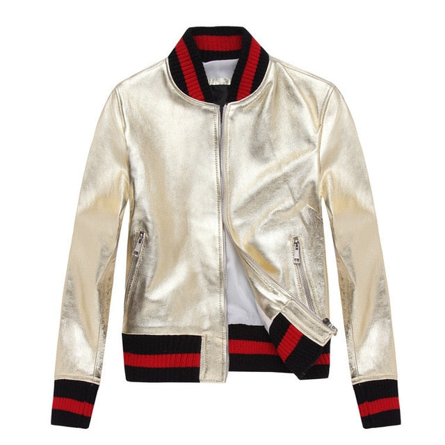 Sheep Skin Bomber Leather Jacket for Women