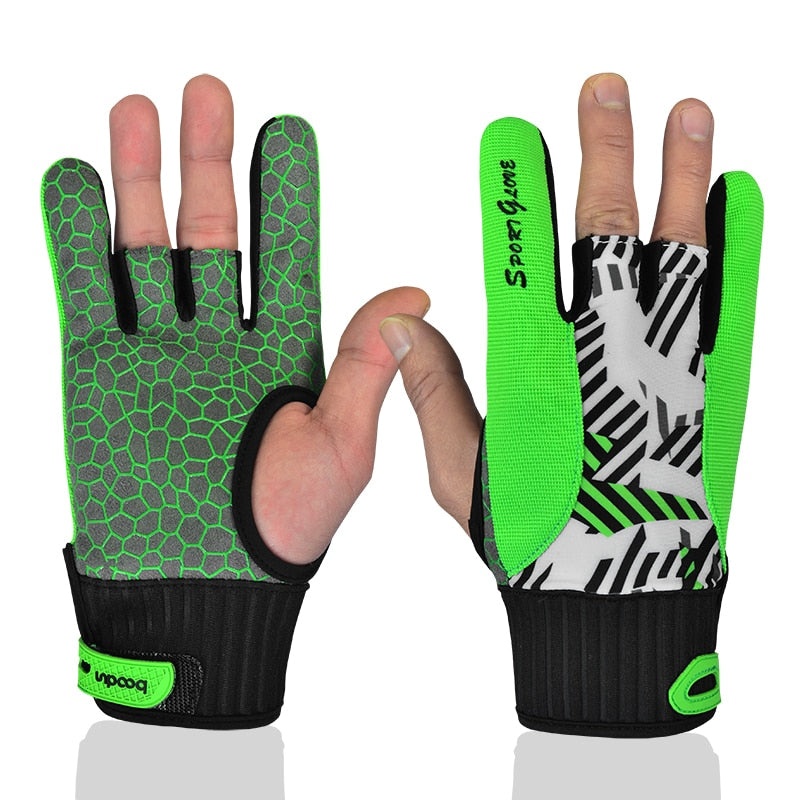 1 Pair BOODUN Men Women Bowling Glove for Left Right Hand Anti-Skid Soft Sports Bowling Ball Gloves Bowling Accessories Mittens