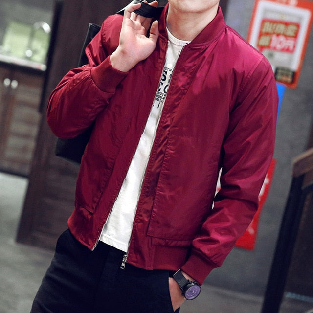 Jacket Baseball Spring Autumn Fashion 2019 Slim Fit Men Thin Jacket