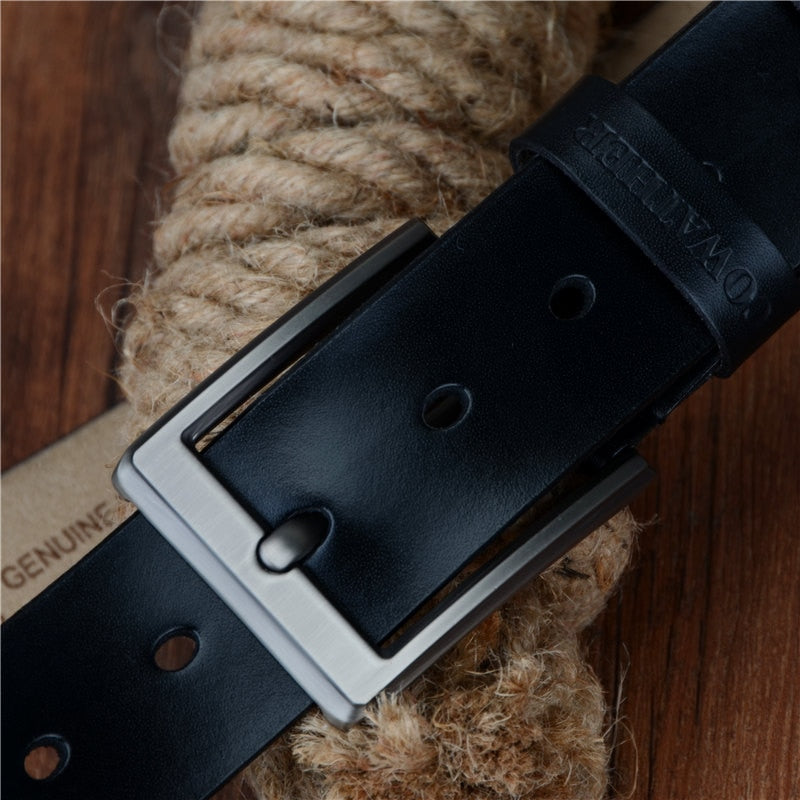 Men Belt Cow Genuine Leather Pin Buckle / Ceinture Homme en Cuir