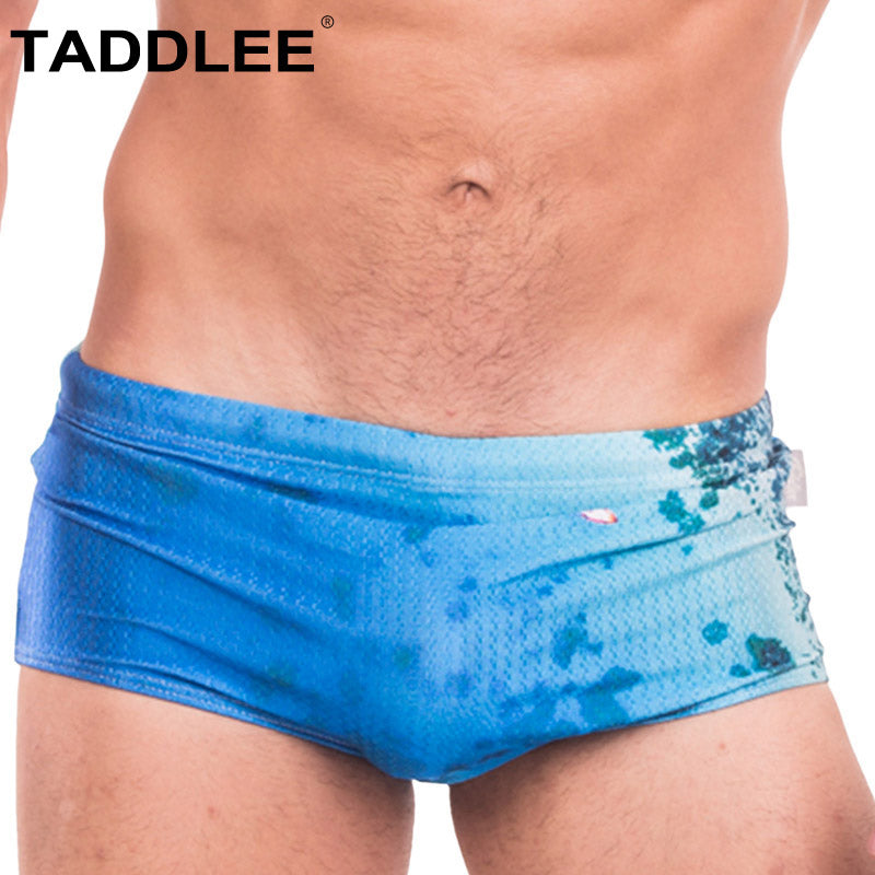 Taddlee Brand Sexy Swimwear Men Swimsuits Swim Boxer Briefs Bikini Surf Board Swimming Shorts Trunks Gay Penis Pouch Bathing New
