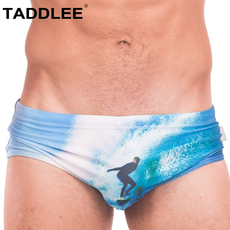Taddlee Brand Men's Swimsuit Sexy Swimwear Boxer Briefs Bikini Gay Penis Pouch Low Rise Swimming Surf Board Trunks Shorts New