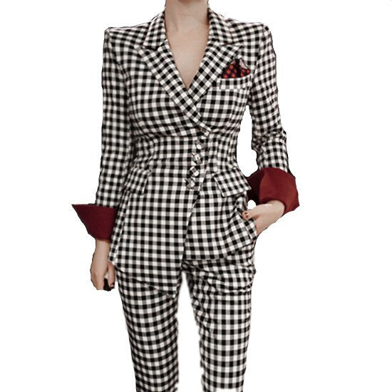 Women Trousers Set Office Lady Suit