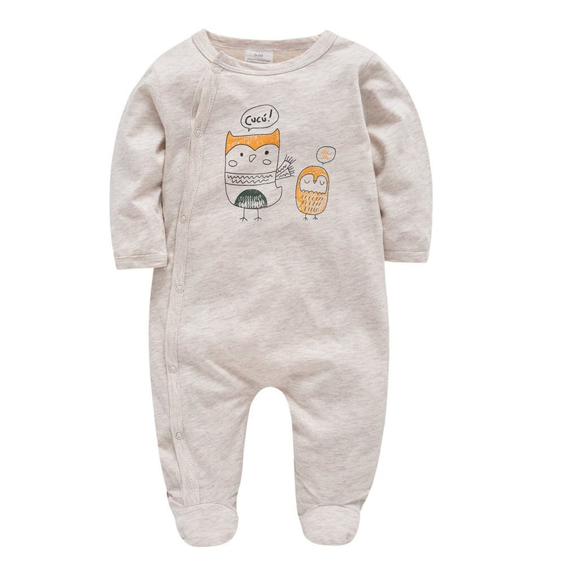 9PCS Organic Cotton Newborn Baby Clothes Sets for Gifts Beige Infant Boy Rompers Hats Bibs Suit Cartoon Girl Bodysuit Birthday