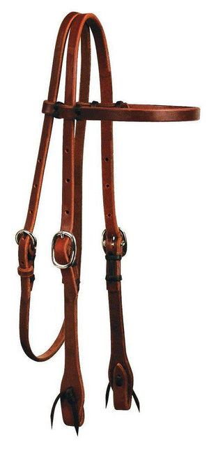 Circle Y Rosewood Harness Leather Browband Headstall-Western Bridle-Circle Y-ReRide Consignment LLC