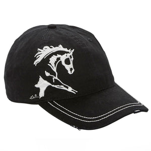 Black 3-D Extended Trot Cap - ReRide Consignment