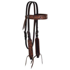 Circle Y Filigree Inlay & Buckstitch Browband Headstall-Western Bridle-Circle Y-ReRide Consignment LLC