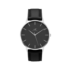 "<h1 style=""color:black;font-size:18px;"">SILVER BLACK / BLACK LEATHER<br> <h1 style=""color:grey;font-size:16px;"">36MM</h1>"