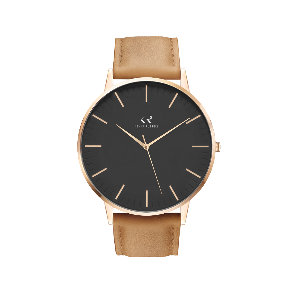 "<h1 style=""color:black;font-size:18px;"">ROSEGOLD BLACK / TAN LEATHER<br> <h1 style=""color:grey;font-size:16px;"">40MM</h1>"