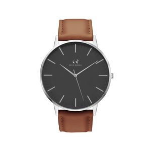 "<h1 style=""color:black;font-size:18px;"">SILVER BLACK / BROWN LEATHER<br> <h1 style=""color:grey;font-size:16px;"">40MM</h1>"