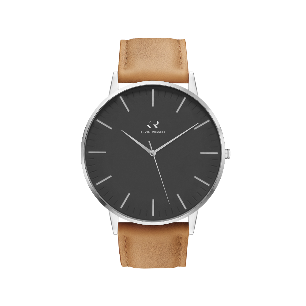 "<h1 style=""color:black;font-size:18px;"">SILVER BLACK / TAN LEATHER<br> <h1 style=""color:grey;font-size:16px;"">40MM</h1>"