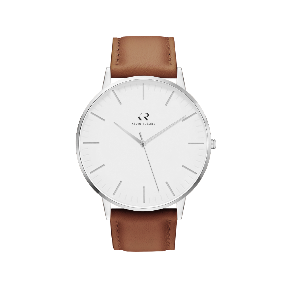 "<h1 style=""color:black;font-size:18px;"">SILVER WHITE / BROWN LEATHER<br> <h1 style=""color:grey;font-size:16px;"">40MM</h1>"
