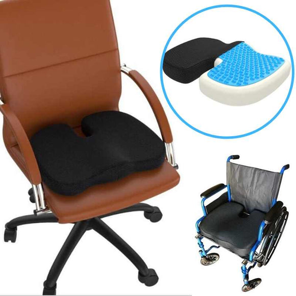 Gel Seat Cushion | Memory Foam and Cooling Medical Grade Gel