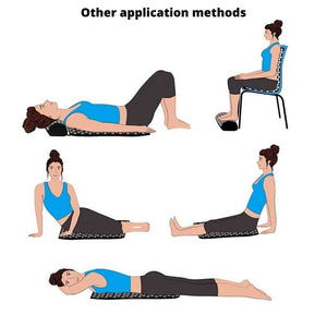More ways on how to use the acupressure mat and acupressure pillow