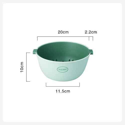 Size of small double layer colander