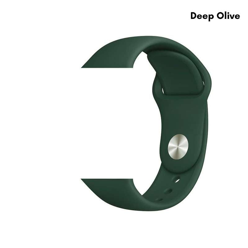 Apple Watch silicone sport band in deep olive