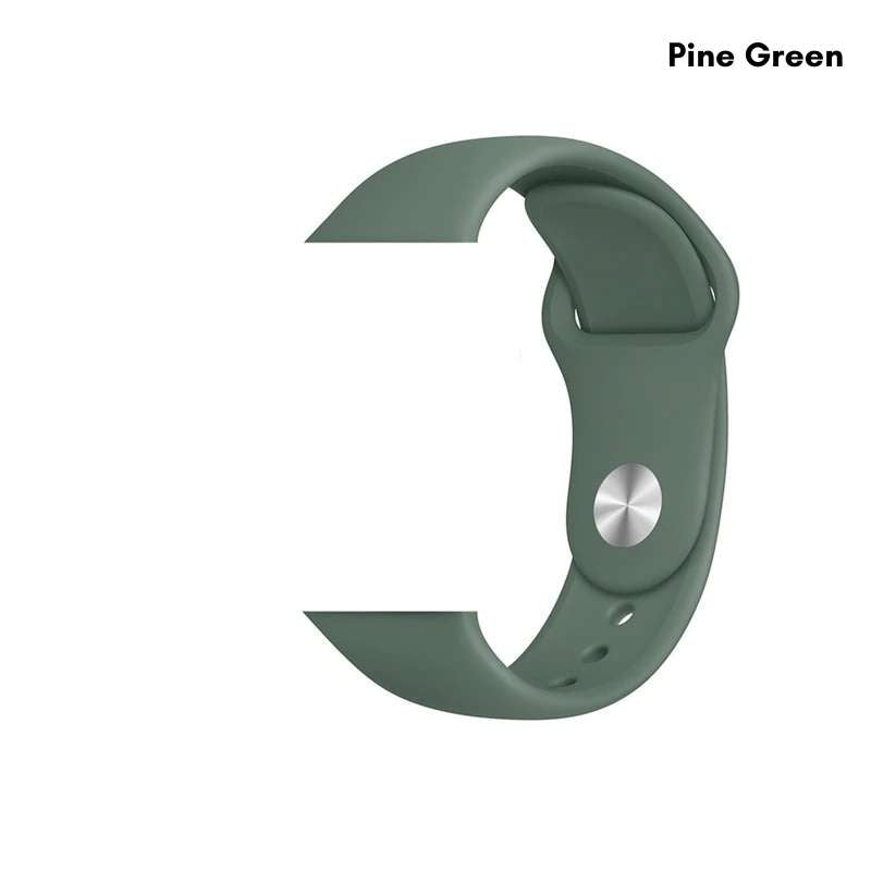 Apple Watch silicone sport band in pine green