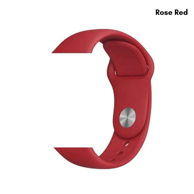 Apple Watch silicone sport band in rose red
