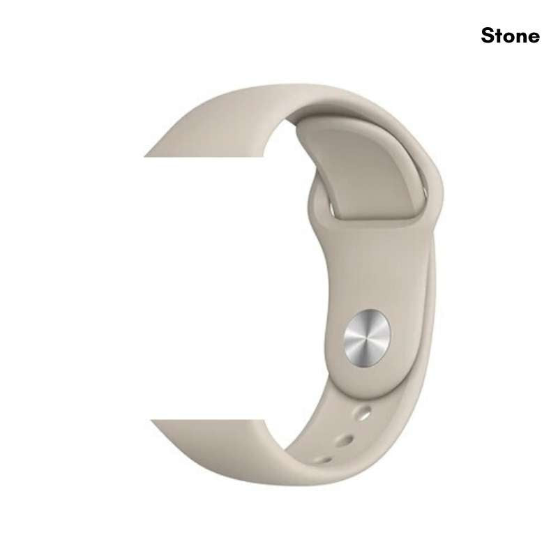 Apple Watch silicone sport band in stone