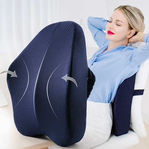 (Duo Combo) Orthopedic Butt Cushion and Backrest Cushion | Hemorrhoids, Sciatica and Tailbone Tendonitis Relief
