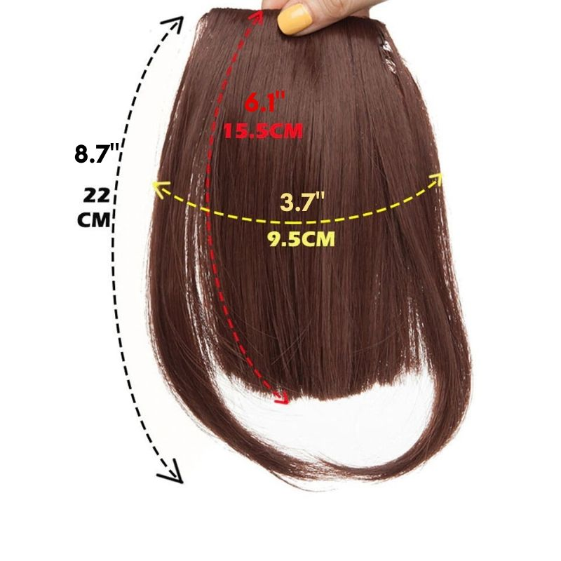 Clip on blunt bangs size