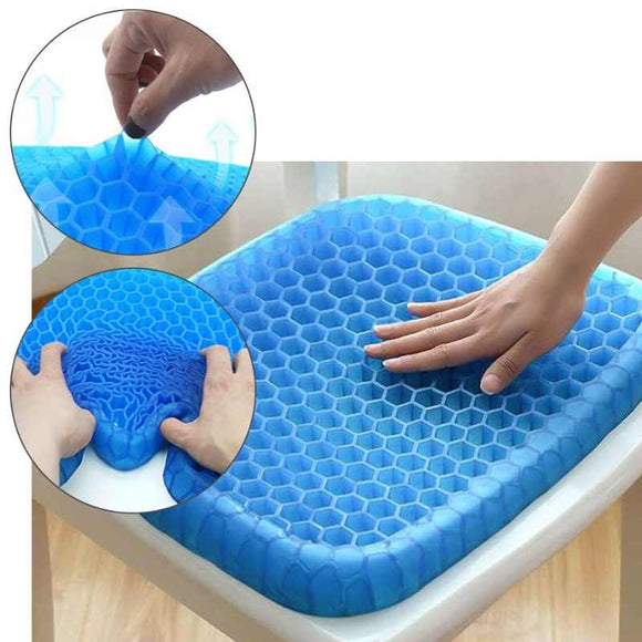 Buttocks cushion, gel seat cushion, gel cushion for wheelchair, soft and flexible, cooling gel cushion