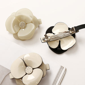 So Chic Camellia French Barrettes