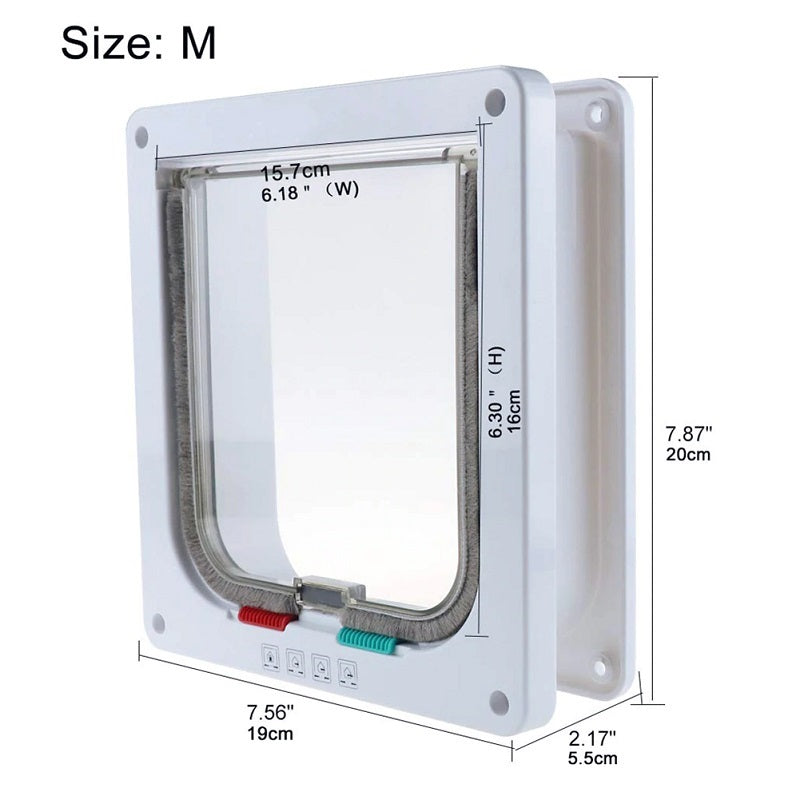 Size M dimensions for cat door