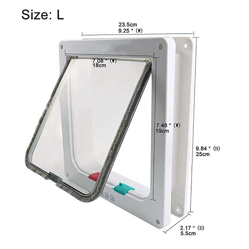 Size L dimensions for cat door