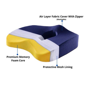 Orthopedic Tailbone Cushion | Coccyx, Ulcer, Hemorrhoid Relief | Non Slip
