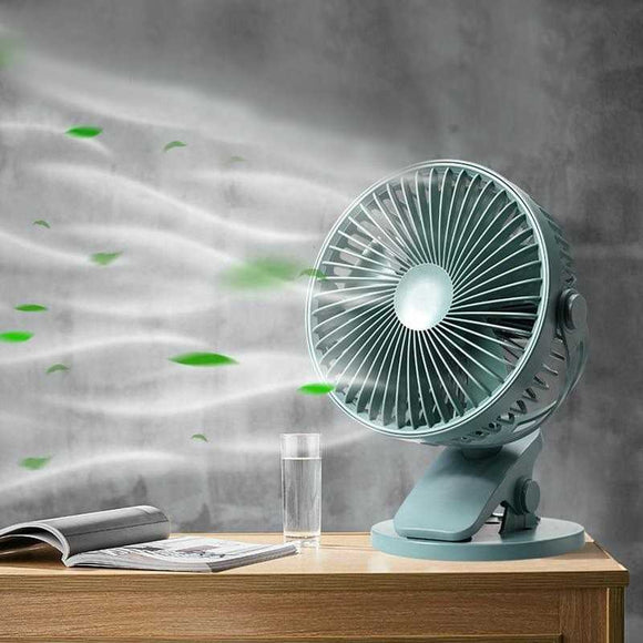 Cooling desk fan, clip on silent fan