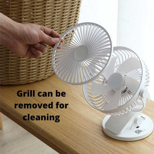 Cooling fan's grill can be removed to wash
