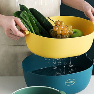Stylish Double Layer Colander | Plastic