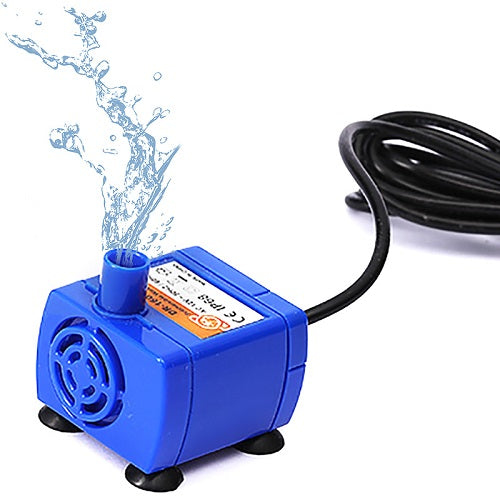 One blue plastic pump for cat water fountain