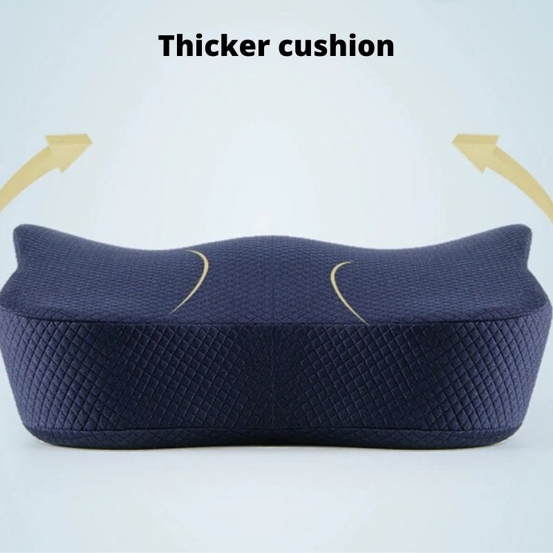 Ergonomic Lumbar and Back Support Cushion  has thicker cushion
