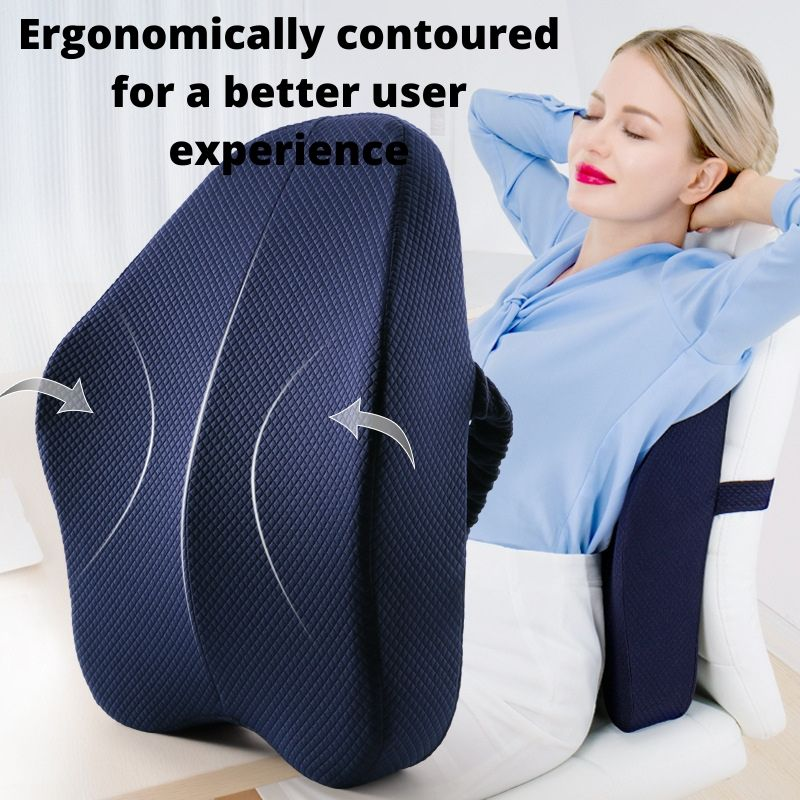 Contours of the Ergonomic Lumbar and Back Support Cushion