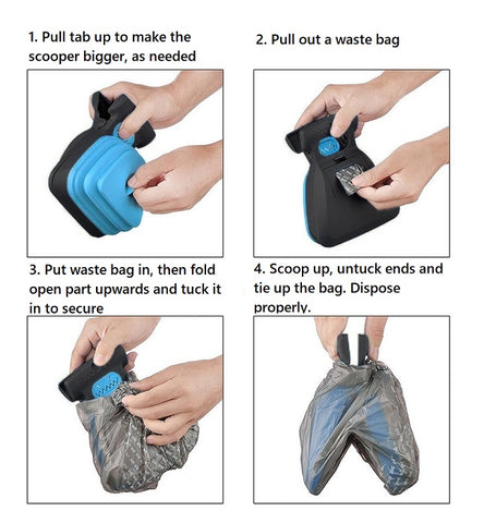 How to use hands free pooper scooper