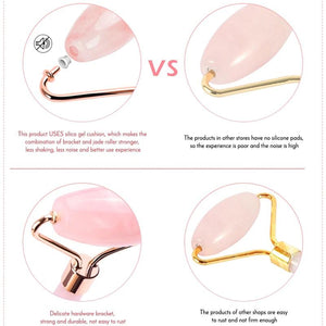 Glow-tiful Rose Quartz roller comparison with other brands' roller