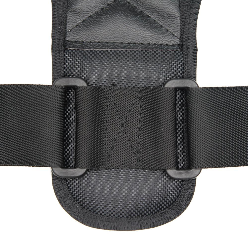 Close of showing stitching details and buckles of posture corrector