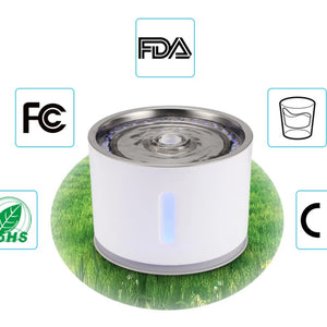 Cat drinking fountain is certified by FDA, FC, CE and RoHS