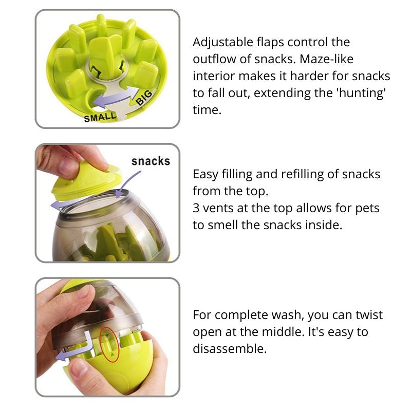 How to use the Interactive Pet Treat Dispenser