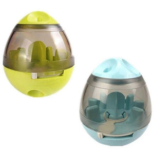 2 pieces of Interactive Pet Treat Dispenser - green and blue