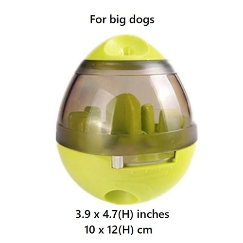 Green colored Interactive Pet Treat Dispenser with size
