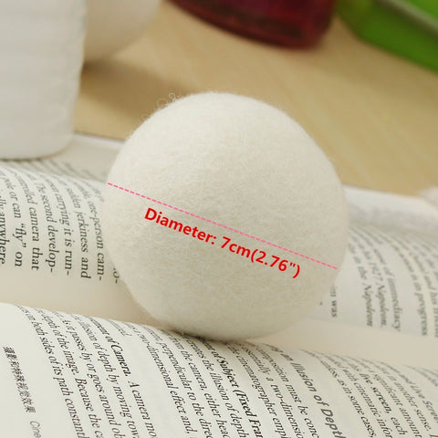 Diameter of the wool dryer ball-almost 3inches