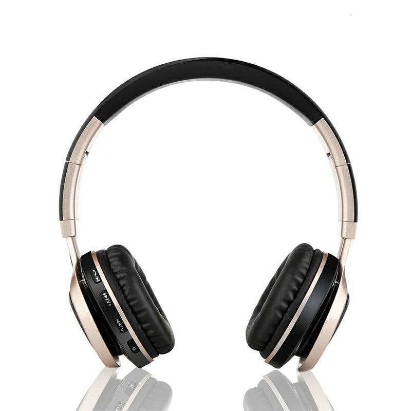 black and gold dual color headphones. wireless headphones, bluetooth
