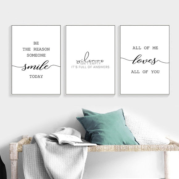 Minimalist Inspirational Quotes Canvas Wall Art